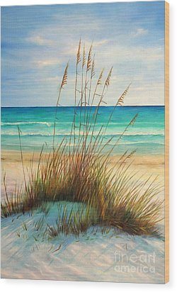 Siesta Key Beach Dunes  Wood Print by Gabriela Valencia