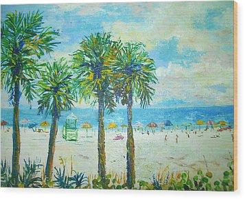 Siesta Key Beach Wood Print by Lou Ann Bagnall