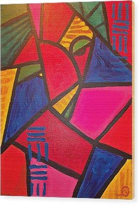 Sifuri Wood Print by Malik Seneferu