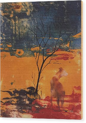 Sight Hound Wood Print