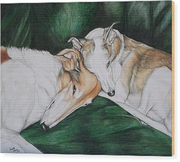 Sighthound Comfort Wood Print