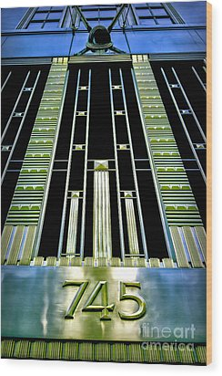 Wood Print featuring the photograph Sights In New York City - Classy Address by Walt Foegelle