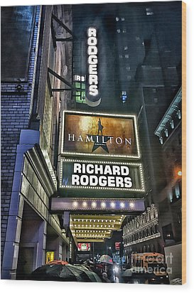 Sights In New York City - Hamilton Marquis Wood Print by Walt Foegelle