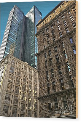 Wood Print featuring the photograph Sights In New York City - Old And New 2 by Walt Foegelle
