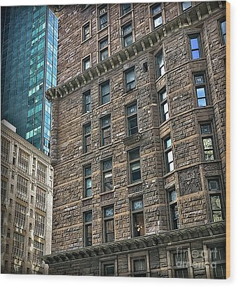 Wood Print featuring the photograph Sights In New York City - Old And New by Walt Foegelle
