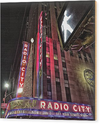 Wood Print featuring the photograph Sights In New York City - Radio City by Walt Foegelle