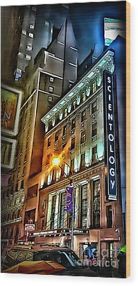 Wood Print featuring the photograph Sights In New York City - Scientology by Walt Foegelle