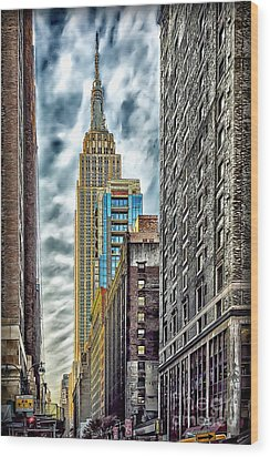 Wood Print featuring the photograph Sights In New York City - Skyscrapers 10 by Walt Foegelle