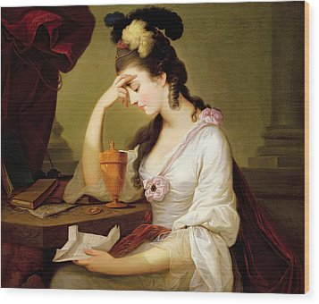 Sigismonda And The Heart Of Guiscardo Wood Print by Moses Haughton