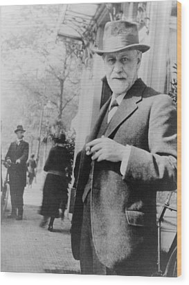 Sigmund Freud 1856-1939, Standing Wood Print by Everett