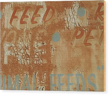 Sign Abstract Wood Print by Billy Tucker