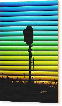 Signal At Dusk Wood Print by Bill Kesler