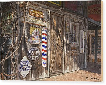Signs Of The Past Wood Print by Patricia Stalter