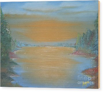Wood Print featuring the painting Silence by Barbara Hayes