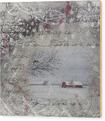 Silence Wood Print by Nadine Berg