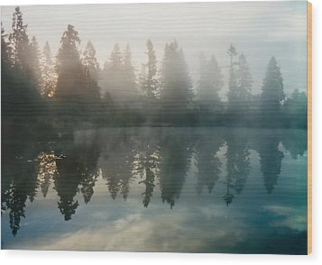 Wood Print featuring the photograph Silence by Sergey and Svetlana Nassyrov