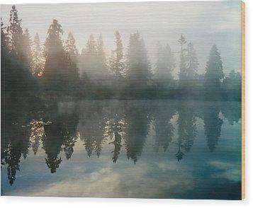 Silence Wood Print by Sergey and Svetlana Nassyrov