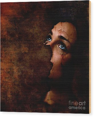 Silenced Wood Print by Jacky Gerritsen