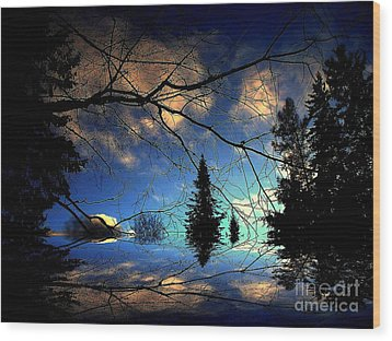 Wood Print featuring the photograph Silent Night by Elfriede Fulda