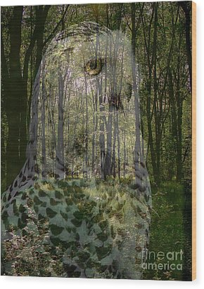 Silent Sentinel Wood Print by Priscilla Richardson