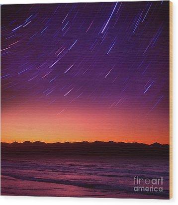 Wood Print featuring the photograph Silent Time by Tatsuya Atarashi
