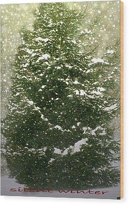 Silent Winter Wood Print by Debra     Vatalaro
