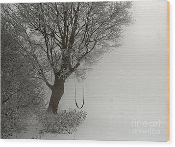 Wood Print featuring the photograph Silently Swinging by Jan Piller