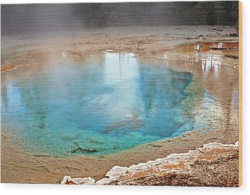 Silex Spring Fountain Paint Pot Yellowstone National Park Wy Wood Print by Christine Till