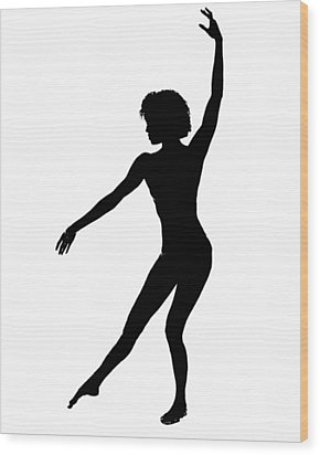 Silhouette 48 Wood Print by Michael Fryd