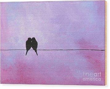 Silhouette Birds Wood Print