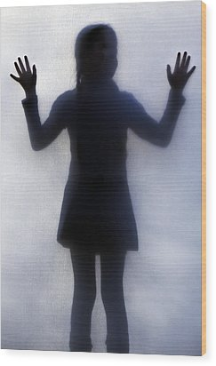 Silhouette Of A Girl Wood Print by Joana Kruse