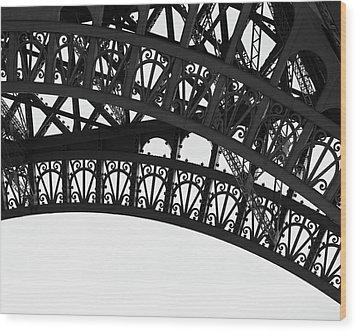 Silhouette - Paris, France Wood Print
