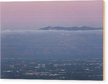 Silicon Valley At Dusk Wood Print by Matt Tilghman