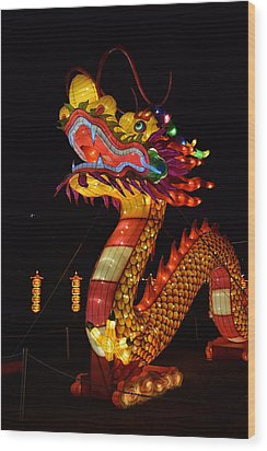 Silk Dragon Wood Print