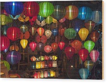 Silk Lanterns Wood Print by Rob Hemphill