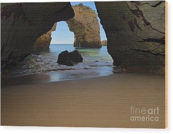 Silky Sands And Arch Wood Print by Angelo DeVal
