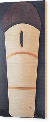 Silo Wood Print by Brenda Bonfield
