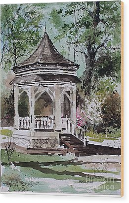 Siloam Springs Park Wood Print by Monte Toon