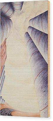 Silos Iv Wood Print by Scott Kirby