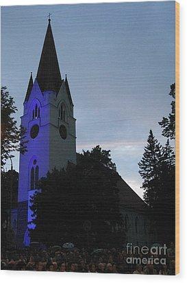 Silute Lutheran Evangelic Church Lithuania 01 Wood Print by Ausra Huntington nee Paulauskaite