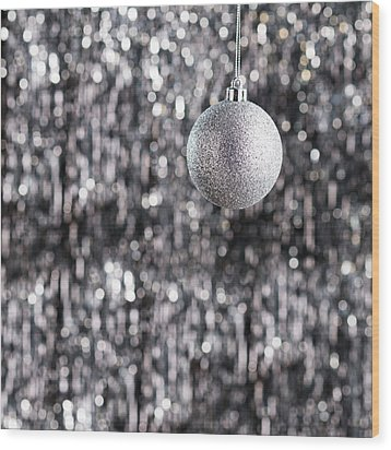 Wood Print featuring the photograph Silver Christmas by Ulrich Schade