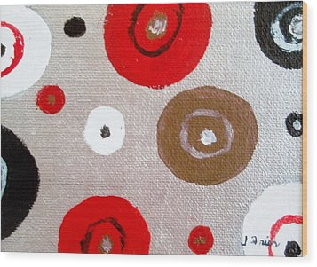 Silver Circle Abstract Wood Print by Jamie Frier
