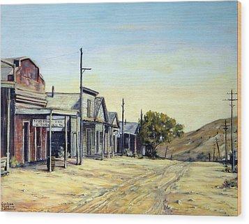 Silver City Nevada Wood Print by Evelyne Boynton Grierson