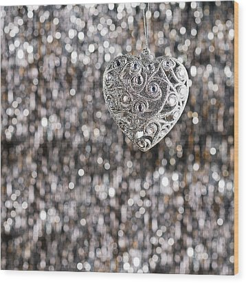 Wood Print featuring the photograph Silver Heart by Ulrich Schade