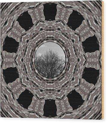 Silver Idyl Wood Print by Pepita Selles