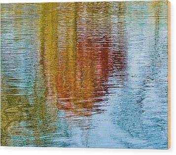 Silver Lake Autumn Reflections Wood Print by Michael Bessler