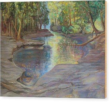 Silver River Hideaway Wood Print