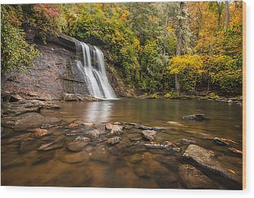Silver Run Falls Nantahala National Forest North Carolina Wood Print by Rick Dunnuck
