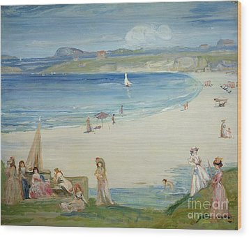 Silver Sands Wood Print by Charles Edward Conder