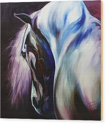 Silver Shadows Equine Wood Print by Marcia Baldwin